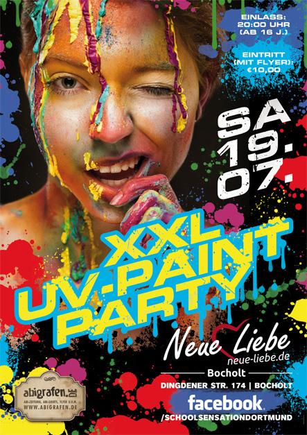 Schulparty Bocholt: UV Paint Party für Schüler ab 16 Jahren