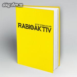 rABIoaktiv Abi Motto / Abibuch Cover Entwurf von abigrafen.de®