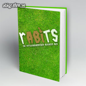 rABIts Abi Motto / Abibuch Cover Entwurf von abigrafen.de®