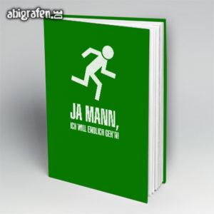 Ja Mann Abi Motto / Abibuch Cover Entwurf von abigrafen.de®