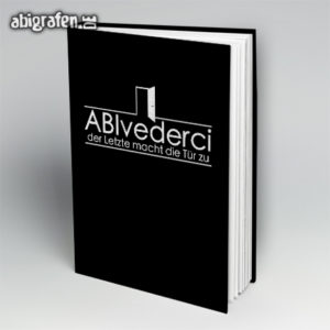 ABIvederci Abi Motto / Abibuch Cover Entwurf von abigrafen.de®