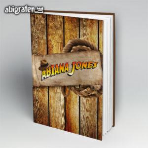 ABIana Jones Abi Motto / Abibuch Cover Entwurf von abigrafen.de®