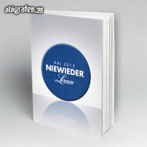Niewieder lernen Abi Motto / Abibuch Cover Entwurf von abigrafen.de®