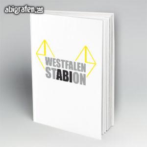 Westfalen StABIon Abi Motto / Abibuch Cover Entwurf von abigrafen.de®