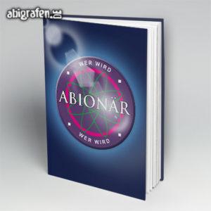 Wer wird ABIonär Abi Motto / Abibuch Cover Entwurf von abigrafen.de®