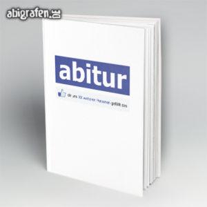 Abitur gefällt mir Abi Motto / Abibuch Cover Entwurf von abigrafen.de®