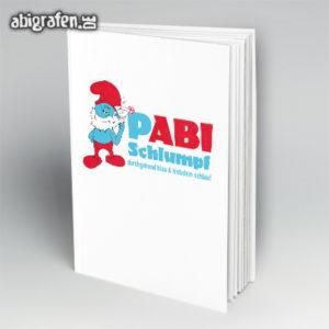 pABI Schlumpf Abi Motto / Abibuch Cover Entwurf von abigrafen.de®