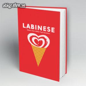 Labinese Abi Motto / Abibuch Cover Entwurf von abigrafen.de®