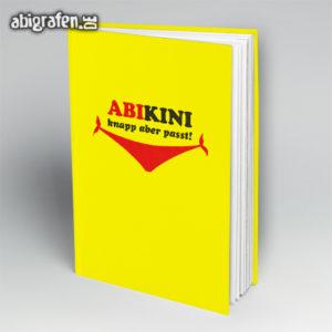 ABIkini Abi Motto / Abibuch Cover Entwurf von abigrafen.de®