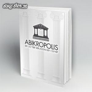 ABIkropolis Abi Motto / Abibuch Cover Entwurf von abigrafen.de®