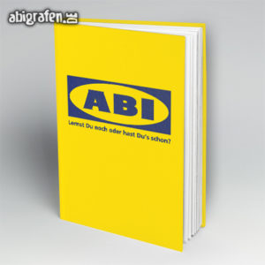 ABIkea Abi Motto / Abibuch Cover Entwurf von abigrafen.de®
