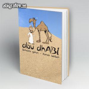 AbudhABI - Abi Motto / Abibuch Cover Entwurf von abigrafen.de®