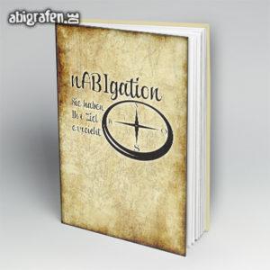 NABigation Abi Motto / Abibuch Cover Entwurf von abigrafen.de®