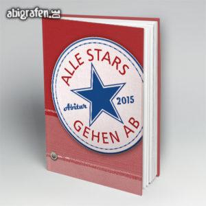Alle Stars gehen ab Abi Motto / Abibuch Cover Entwurf von abigrafen.de®