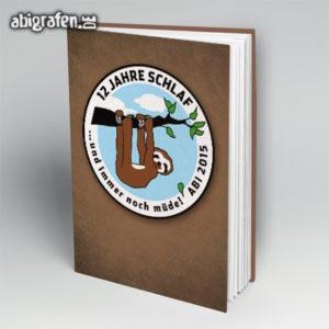 12 Jahre Schlaf Abi Motto / Abibuch Cover Entwurf von abigrafen.de®