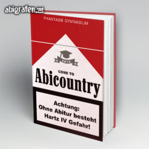 welcome to ABIcountry Abi Motto / Abibuch Cover Entwurf von abigrafen.de®