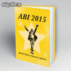 Auch Stars müssen einmal gehen Abi Motto / Abibuch Cover Entwurf von abigrafen.de®