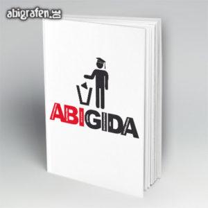 ABIGIDA Abi Motto / Abibuch Cover Entwurf von abigrafen.de®