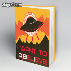 I WANT TO ABELIEVE Abi Motto / Abibuch Cover Entwurf von abigrafen.de®