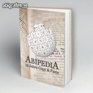 ABIpedia Abi Motto / Abibuch Cover Entwurf von abigrafen.de®
