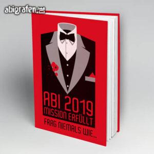 Mission erfüllt Abi Motto / Abibuch Cover Entwurf von abigrafen.de®