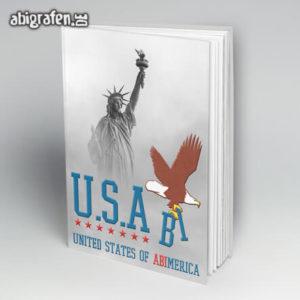 U.S.Abi Abi Motto / Abibuch Cover Entwurf von abigrafen.de®
