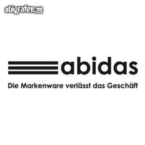 ABIdas Abi Motto / Abisprüche Entwurf von abigrafen.de®
