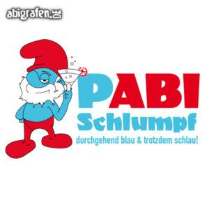 pABI Schlumpf Abi Motto / Abisprüche Entwurf von abigrafen.de®