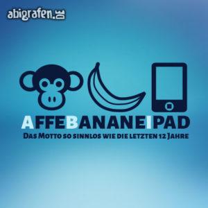 Affe Banane Ipad Abi Motto / Abisprüche Entwurf von abigrafen.de®