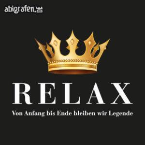 Relax Abi Motto / Abisprüche Entwurf von abigrafen.de®