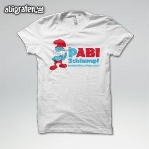 pABI Schlumpf Abi Motto / Abishirt Entwurf von abigrafen.de®