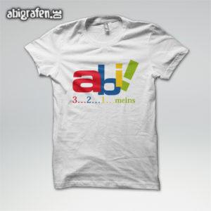 Abi 3 - 2 - 1 - meins! Abi Motto / Abishirt Entwurf von abigrafen.de®