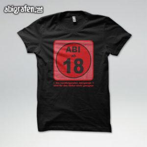 Abi ab 18 Abi Motto / Abishirt Entwurf von abigrafen.de®