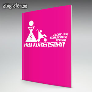 ABIturensohn Abi Motto / Abizeitung Cover Entwurf von abigrafen.de®