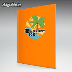 ABIn den Süden Abi Motto / Abizeitung Cover Entwurf von abigrafen.de®