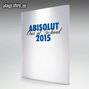 ABIsolut out of school Abi Motto / Abizeitung Cover Entwurf von abigrafen.de®
