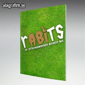 rABIts Abi Motto / Abizeitung Cover Entwurf von abigrafen.de®
