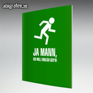 Ja Mann Abi Motto / Abizeitung Cover Entwurf von abigrafen.de®