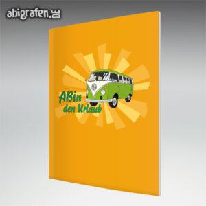 ABIn den Urlaub Abi Motto / Abizeitung Cover Entwurf von abigrafen.de®