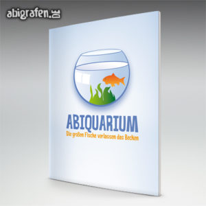 ABIquarium Abi Motto / Abizeitung Cover Entwurf von abigrafen.de®