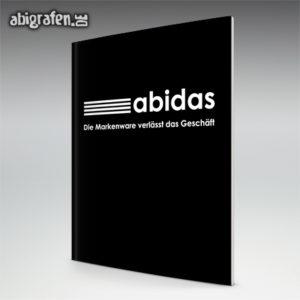 ABIdas Abi Motto / Abizeitung Cover Entwurf von abigrafen.de®