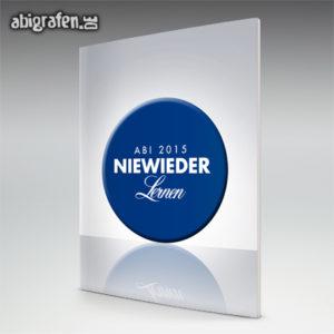 Niewieder lernen Abi Motto / Abizeitung Cover Entwurf von abigrafen.de®