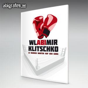 WlABImir Klitschko Abi Motto / Abizeitung Cover Entwurf von abigrafen.de®