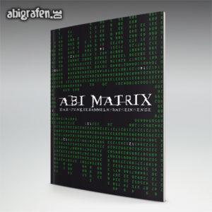 ABImatrix Abi Motto / Abizeitung Cover Entwurf von abigrafen.de®