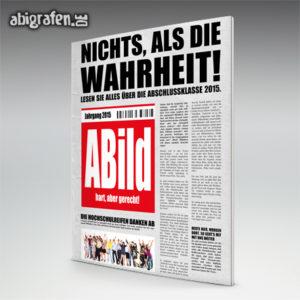 ABild Abi Motto / Abizeitung Cover Entwurf von abigrafen.de®