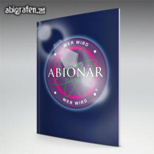Wer wird ABIonär Abi Motto / Abizeitung Cover Entwurf von abigrafen.de®