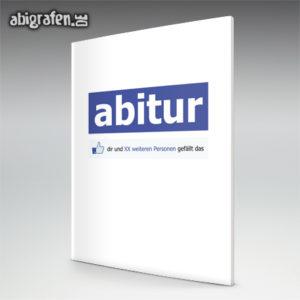 Abitur gefällt mir Abi Motto / Abizeitung Cover Entwurf von abigrafen.de®