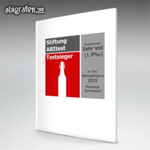 Stiftung ABItest Abi Motto / Abizeitung Cover Entwurf von abigrafen.de®