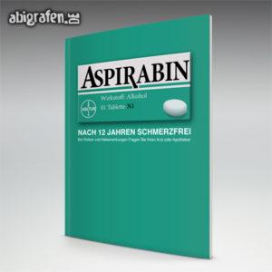 Aspirabin Abi Motto / Abizeitung Cover Entwurf von abigrafen.de®