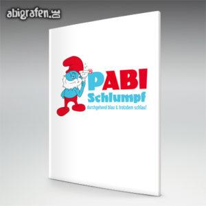 pABI Schlumpf Abi Motto / Abizeitung Cover Entwurf von abigrafen.de®